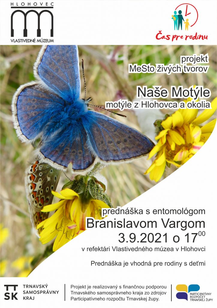 Naše motýle – Motýle Hlohovca a okolia